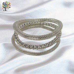 Set of 3 Mesh Chain Stretch Multilayer